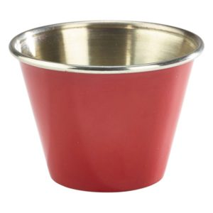 2.5oz Stainless Steel Ramekin Red