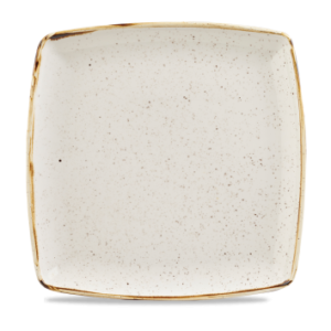 Stonecast Deep Square Plate – 10.5″ Barley White – Pack of 6