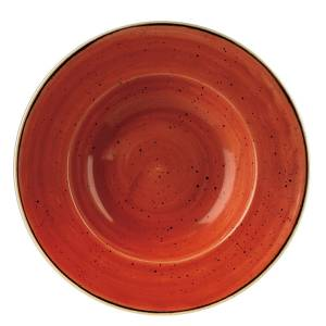 Stonecast Wide Rim Bowl Spiced Orange 28cm – Pack of 12