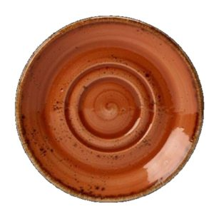 Craft Double Well Saucer Small – 11.75cm Terracotta – Pack of 36