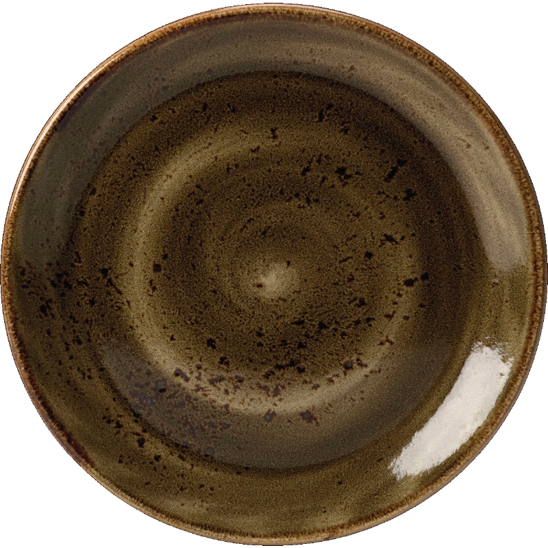 "Craft Plate Coupe 6"" Brown - Pack of 36 - 3.44 Each"