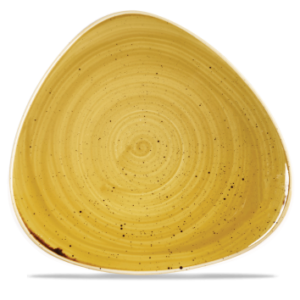 Stonecast Triangle Plate - Mustard Seed Yellow 31cm - Pack of 6
