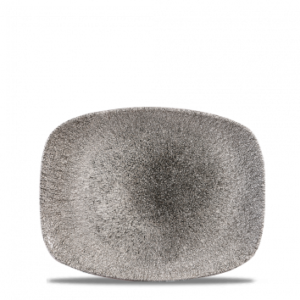 Raku Quartz Black Chefs' Oblong Plate 26.1 x 20.2cm – Pack of 12