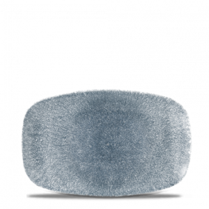Raku Topaz Blue Chefs' Oblong Plate 23.7 x 15.7cm – Pack of 12