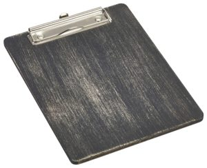 Black Wooden Menu Clipboard A5 18.5 x 24.5 x 0.6cm