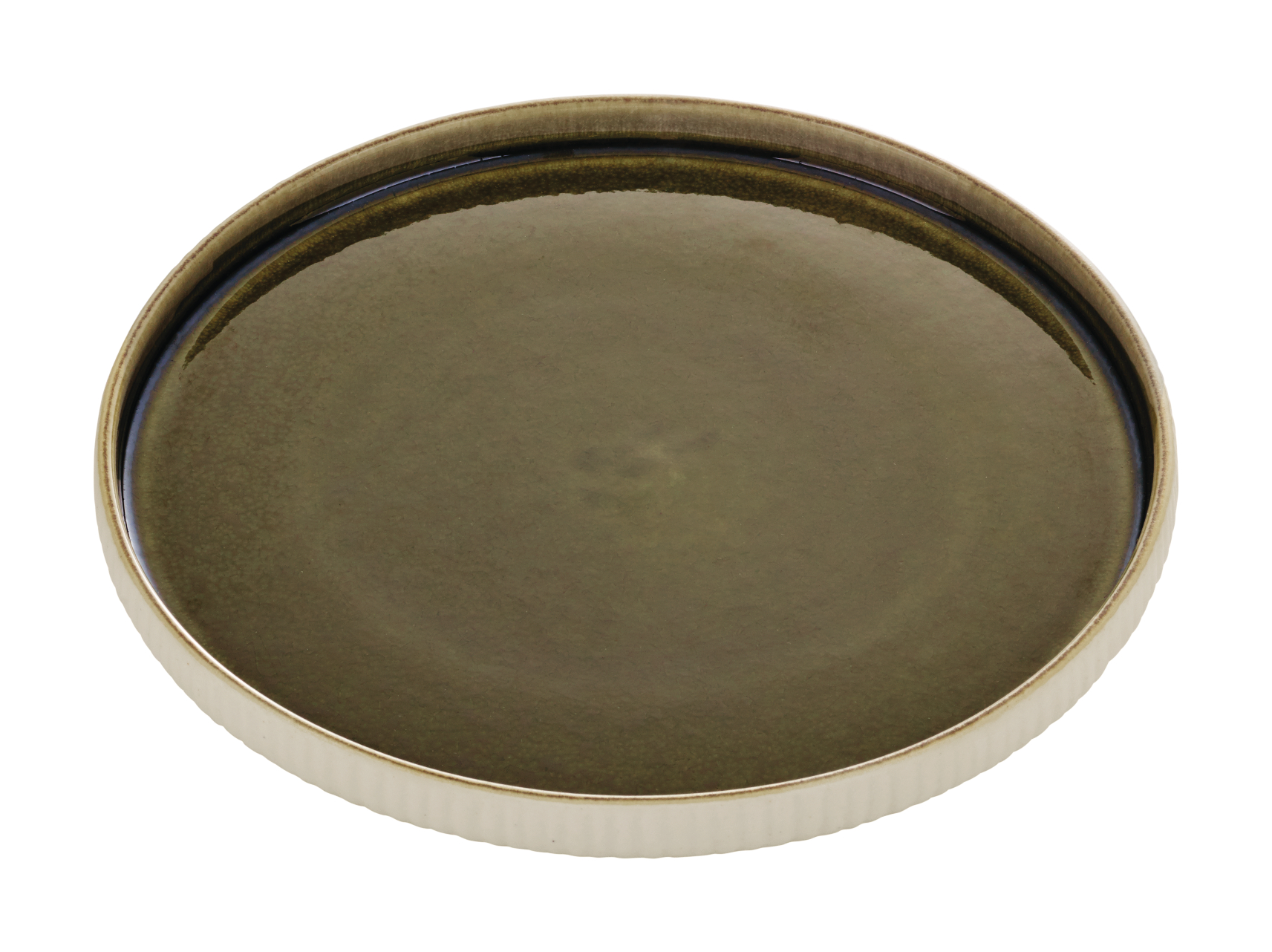 Nara Flat Plate Relief Olive 21cm - Pack of 6