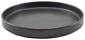 Terra Porcelain Black Presentation Plate 26cm – Pack of 6