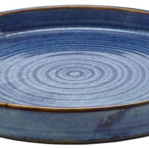 Terra Porcelain Aqua Blue Presentation Plate 26cm - Pack of 6
