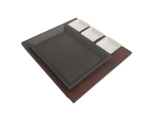 Rectangular Cast Iron Sizzling Hot Platter Set