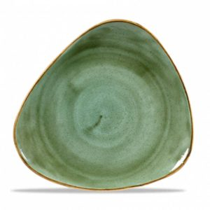 Stonecast Samphire Green Triangle Plate 26.5cm – Pack of 12
