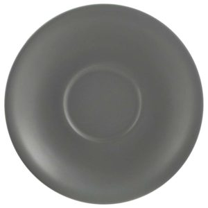 Porcelain Matt Grey 12cm Saucer - Pack of 6