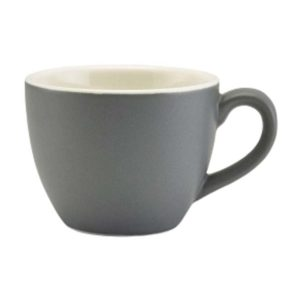 Porcelain Matt Grey Bowl Shaped Cup 9cl/3oz - Pack of 6