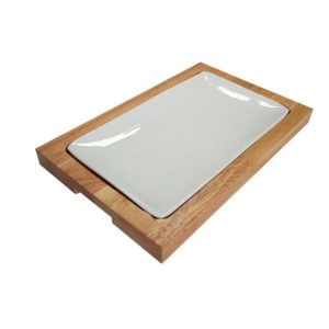 Indented Wooden Board for plate