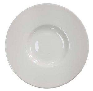 Gastronomy Fine Bone China Shallow Well Plate 25.2cm – Pack of 6